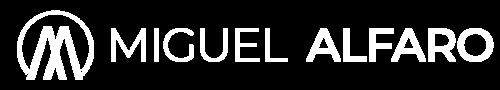 miguel alfaro logo white